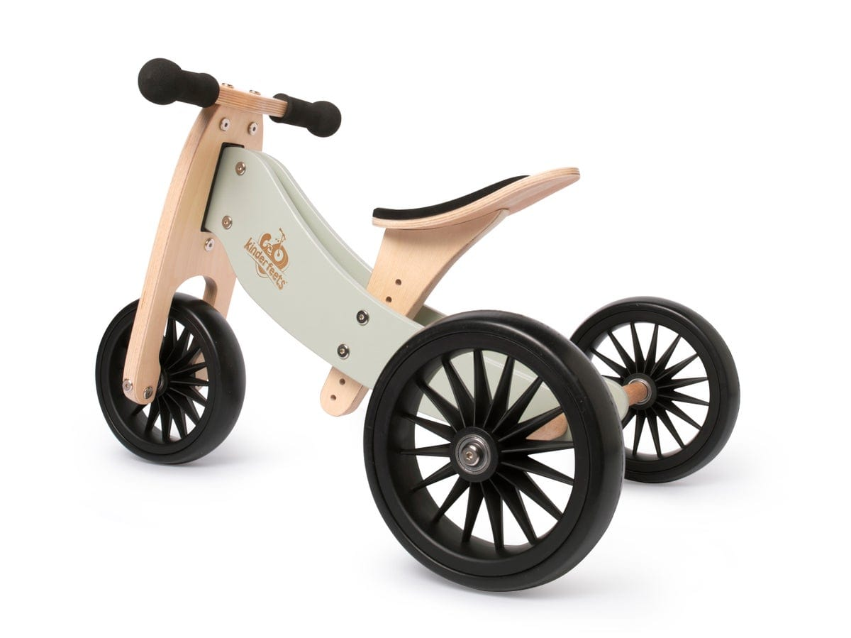 Kinderfeets Tiny Tot PLUS Tricycle/Balance Bike - Silver Sage