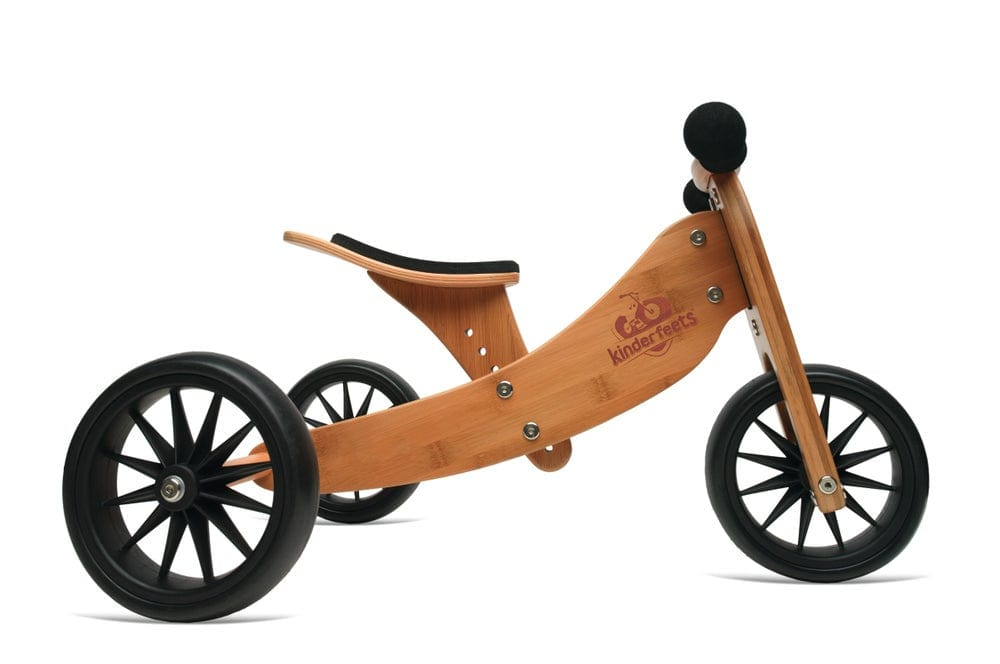 Kinderfeets Tiny Tot 2-in-1 Tricycle/Balance Bike - Bamboo