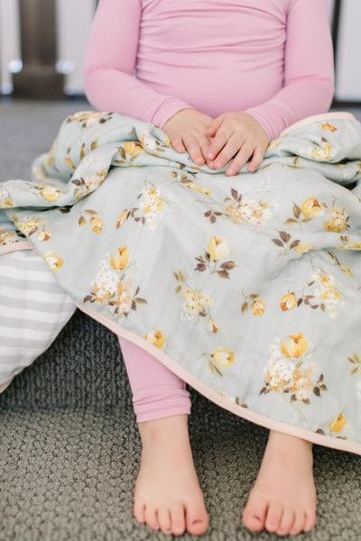 Loulou Lollipop Luxe Muslin Quilt Blanket - Wild Rose Lifestyle