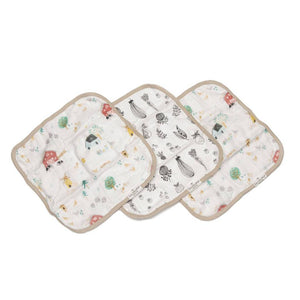 Loulou Lollipop Washcloth Set - Farm Animals