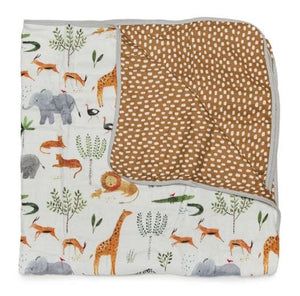 Loulou Lollipop Luxe Muslin Quilt Blanket - Safari Jungle