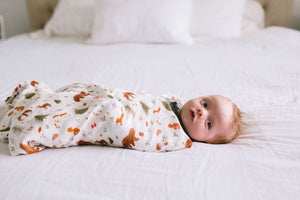 Loulou Lollipop Luxe Muslin Swaddle - Forest Friends Lifestyle 2