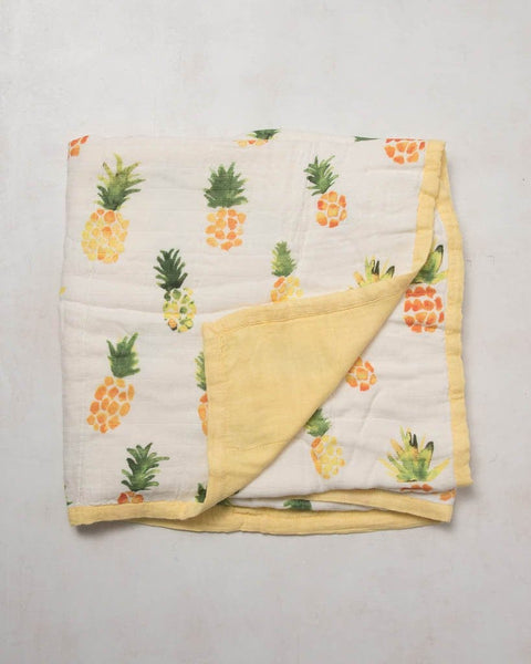 Little Unicorn Deluxe Bamboo Muslin Quilt - Pineapple
