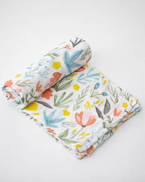 Little Unicorn Muslin Cotton Swaddle Single - Meadow