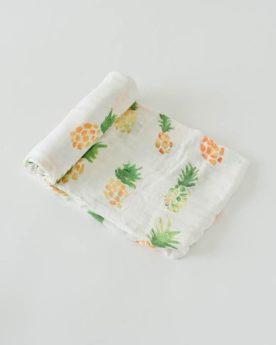 Little Unicorn Deluxe Bamboo Muslin Swaddle - Pineapple