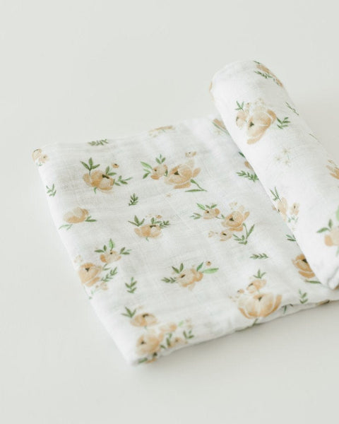 Little Unicorn Muslin Cotton Swaddle Single - Yellow Rose