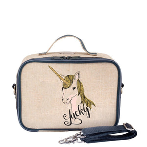 SoYoung Raw Linen Lunch Box - Lucky Unicorn