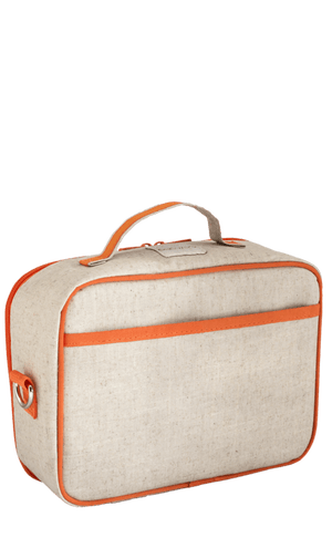 SoYoung Raw Linen Lunch Box - Orange Fox Back