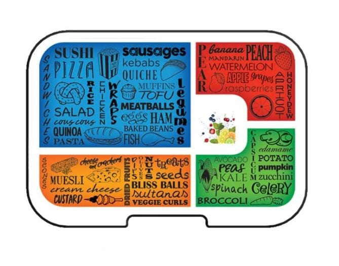 Munchbox Midi5 Artwork Tray - Primary Colours