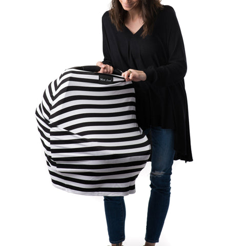 Milk Snob Cover - Black and White Signature Stripes
