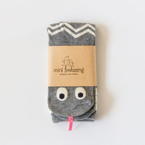 Mini Dressing Knee High Socks in Grey Snake - Packaging