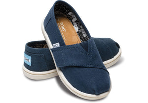 Tiny TOMS Navy Canvas Classic Shoe