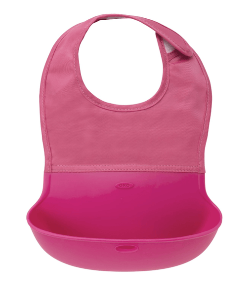 OXO Tot Roll Up Bib - Pink