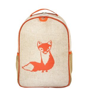 SoYoung Toddler Backpack Raw Linen - Orange Fox