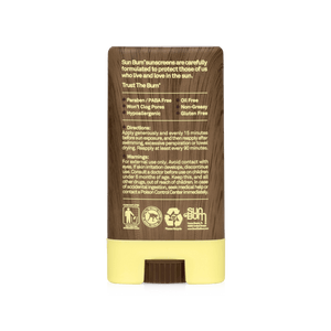 Sun Bum Sunscreen Face Stick SPF 30 - Back