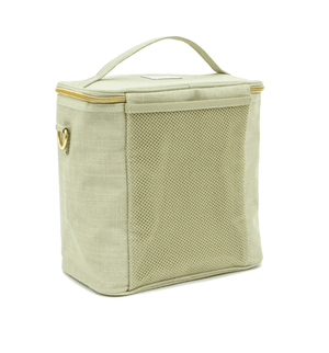 SoYoung Sage Green Linen Lunch Poche