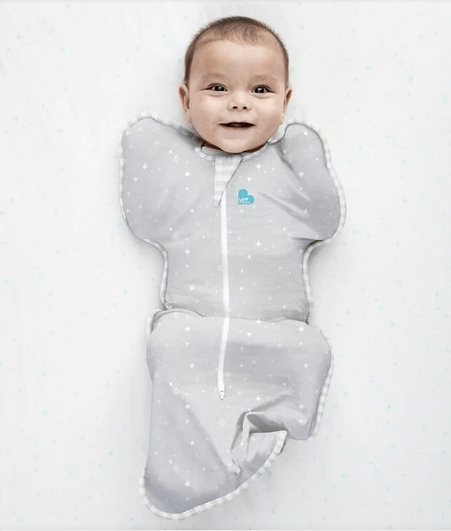 Love to Dream Swaddle UP Lite 0.2 TOG - Grey Stars