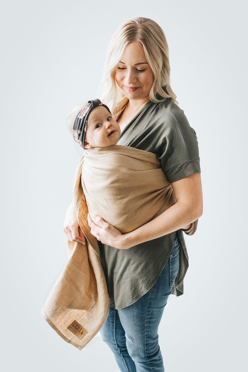 True North Linen Ring Sling - Fawn