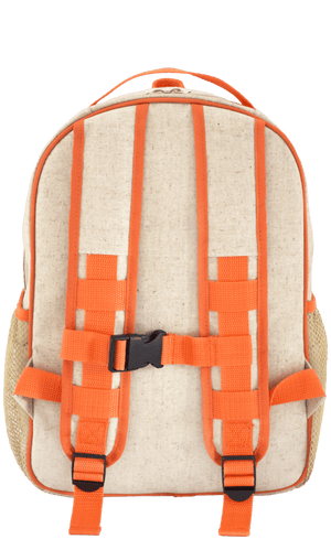 SoYoung Toddler Backpack Raw Linen - Orange Fox Back