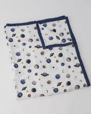 Little Unicorn Muslin Cotton Big Kid/Adult Quilt - Planetary