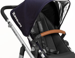 Saddle Leather - UPPAbaby VISTA and CRUZ Leather Bumper Bar Cover