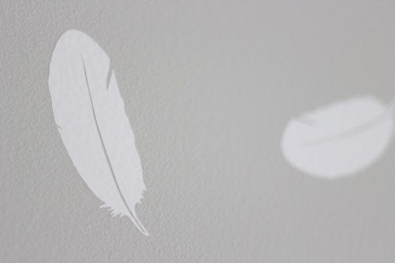 Urbanwalls Decals - White Feathers
