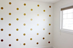 Urbanwalls Decals - Gold Polka Dots 2
