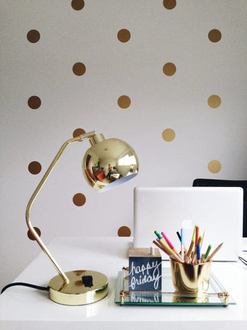 Urbanwalls Decals - Gold Polka Dots