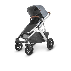 UPPAbaby VISTA V2 Stroller - Gregory (Blue Melange/Silver/Saddle Leather) Angle