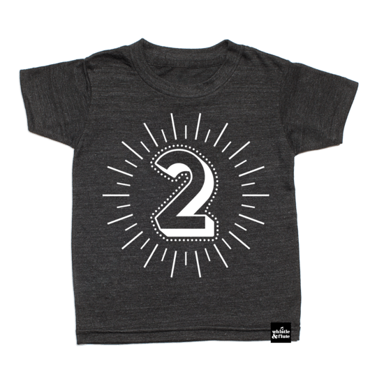 Whistle & Flute Milestone Number T-Shirt - No.2