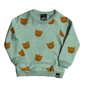 Whistle & Flute All Over Print Sweatshirt - Kawaii Bear
