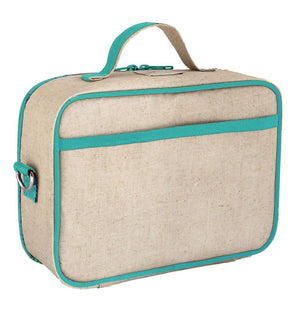 SoYoung Raw Linen Lunch Box - Olive Fox Back