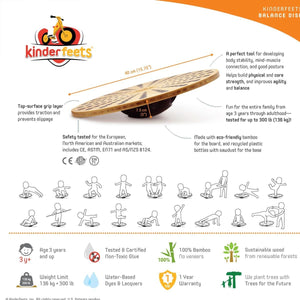 Kinderfeets Bamboo Balance Disk Features