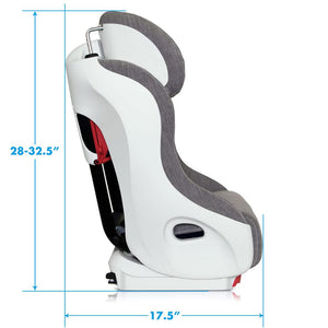 Clek 2021 Foonf Convertible Car Seat Tailored C-Zero Plus - Dimensions 2
