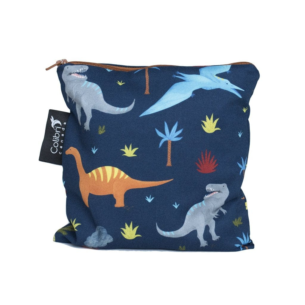 Colibri Large Reusable Snack Bag - Dinosaurs