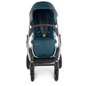 UPPAbaby CRUZ V2 Stroller - Finn (Deep Sea/Silver/Saddle Leather) Front