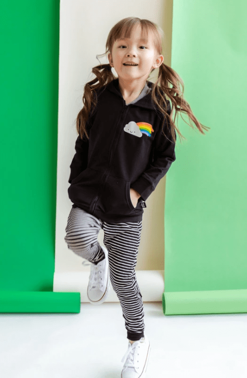 Whistle & Flute Kawaii Rainbow Hooded Sweatshirt