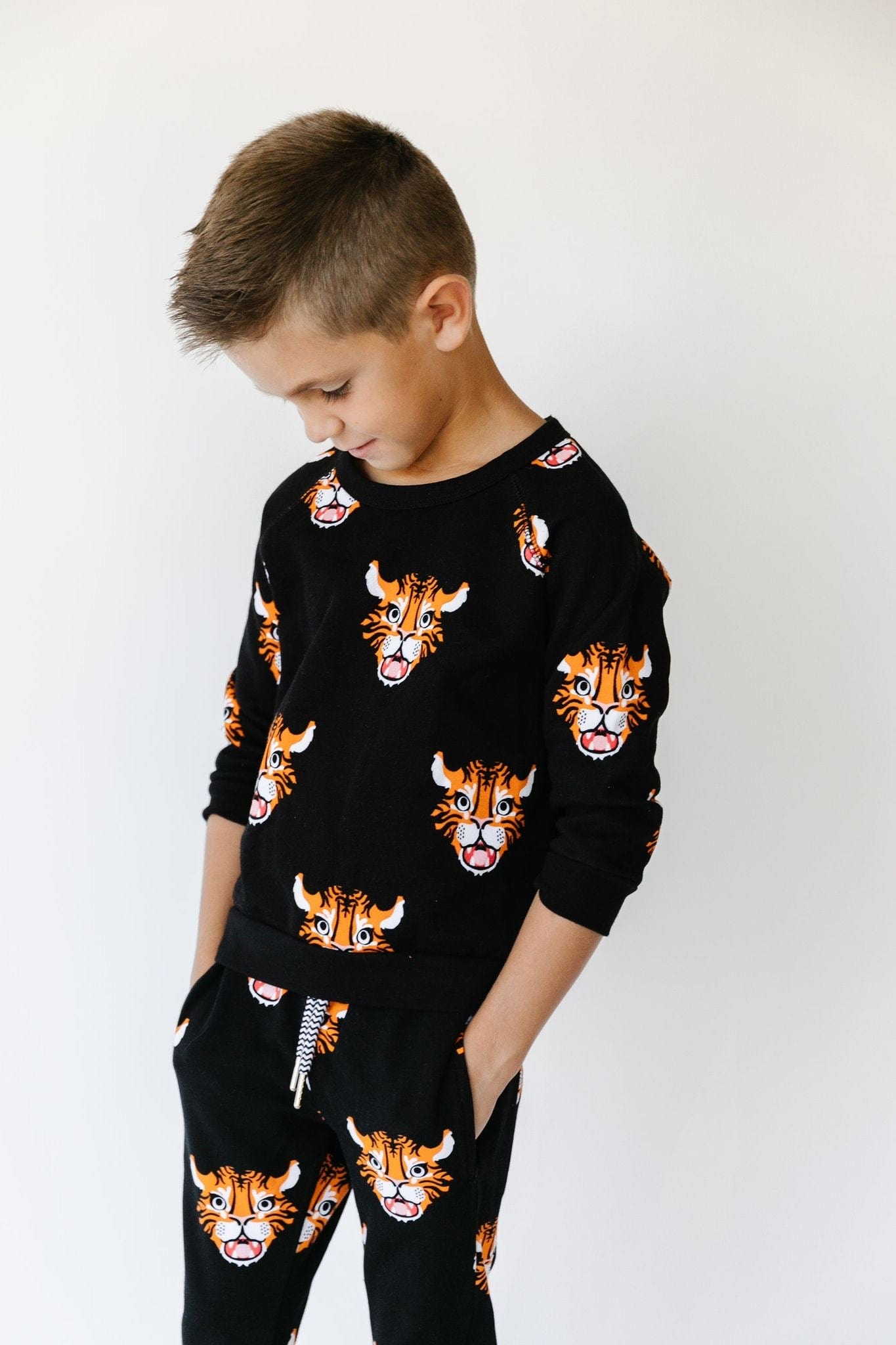 Whistle & Flute All Over Print Sweatshirt - Kawaii Tiger