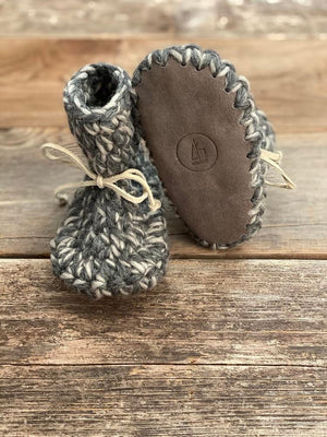 Twig & Boat Wool Booties - Granite Upcycled Sole