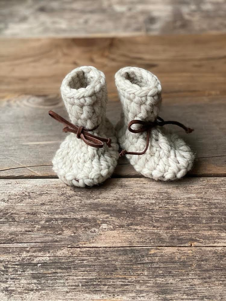 Twig & Boat Wool Booties - Sand