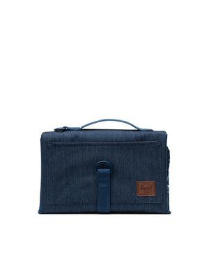Herschel Sprout Change Mat - Indigo Denim Crosshatch