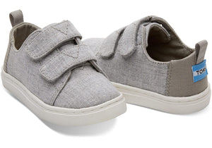 Tiny TOMS Lenny Sneakers - Grey Chambray