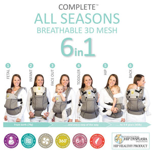 LÍLLÉbaby Complete All Seasons 6-in-1 Baby Carrier - Positions