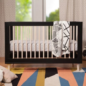 Black with Washed Natural - Babyletto Lolly Crib Lifestyle 2