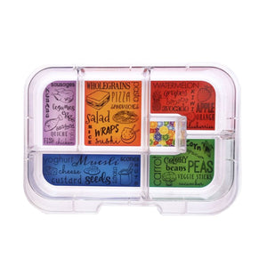 Munchbox Maxi6 Bold Collection - Blue Hero Tray