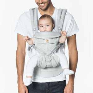 Ergobaby OMNI 360 Baby Carrier All-In-One Cool Air Mesh - Pearl Grey Lifestyle 1