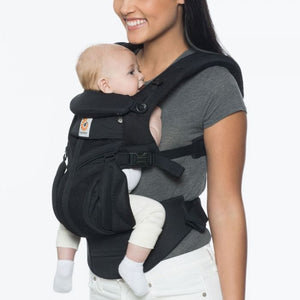 Ergobaby OMNI 360 Baby Carrier All-In-One Cool Air Mesh - Onyx Black Inward Facing