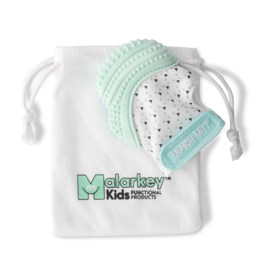 Malarkey Kids Munch Mitt - Mint Green Triangles