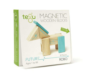 Tegu Future Robo Magnetic Wooden Block Set Packaged