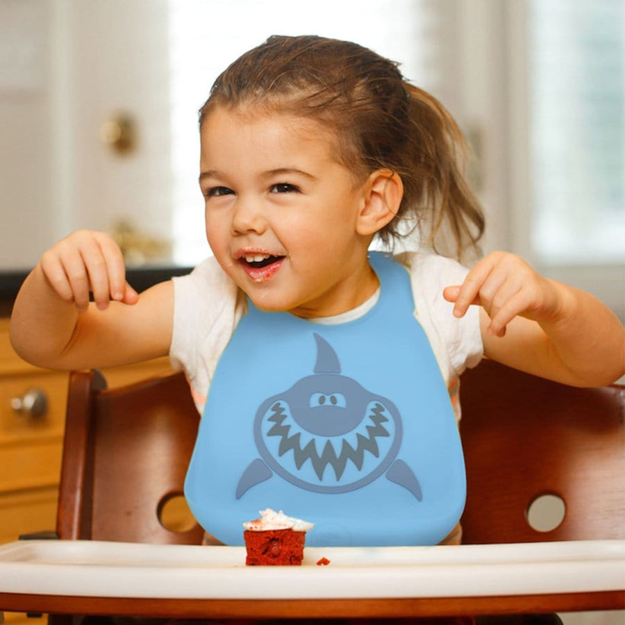Make My Day Silicone Baby Bib - Shark